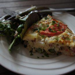 Asparagus, Tomato & Feta Frittata